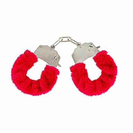 Couple Sex Toys-Fetish Fantasy Beginner's Furry Cuffs in Red