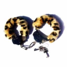 Fetish Fantasy Furry Cuffs in Leopard