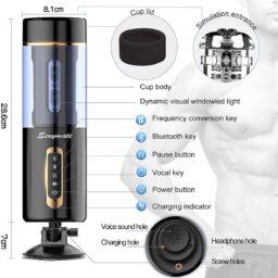 Bluetooth Thrusting Fleshlight - Male Masturbator
